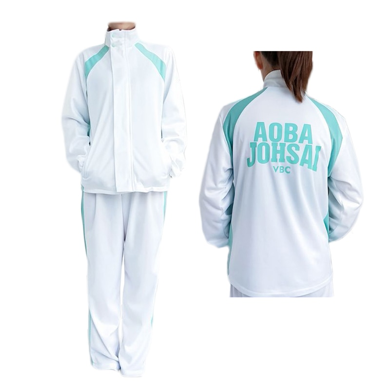 Haikyuu!! Aoba johsai alta escola bola bola equipe jaqueta esportiva calças cosplay traje haikiyu oikawa tooru uniforme escolar