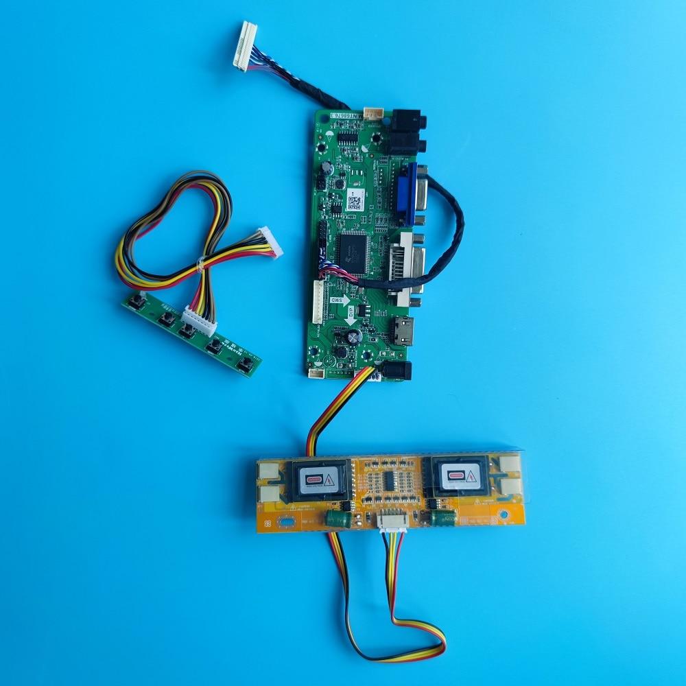 عدة ل M170EG01 V3/VC/VB/VA DVI VGA شاشة رصد 1280X1024 LVDS 4 مصابيح 30pin لوحة تحكم لتقوم بها بنفسك M.NT68676 17