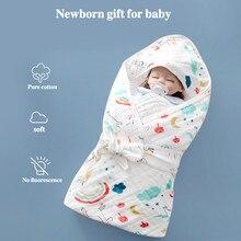 Manta envuelta de gasa de algodón de seis capas para bebé recién nacido, edredón envolvente, edredón para bebé, toallas para bebé 90x90