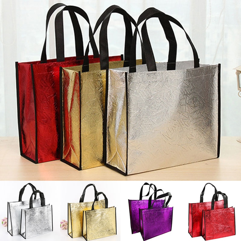 Moda láser bolsa de compra plegable Eco bolsa grande reutilizable bolsa de compras bolsa impermeable tela No tejida bolsa sin cremallera gran oferta