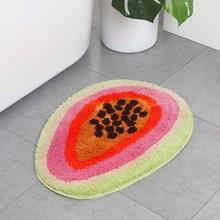 Haute qualité lavable en Machine tapis de bain Fox Passion Fruit tapis anti-dérapant salle de bain porte tapis toilette salle de bain tapis absorbant