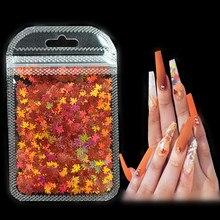 3 G/set Shiny Bladvorm Glitter Micro Vlokken Acryl Holografische Goud Pailletten Diy 3D Nail Art Decoraties Polish Manicure