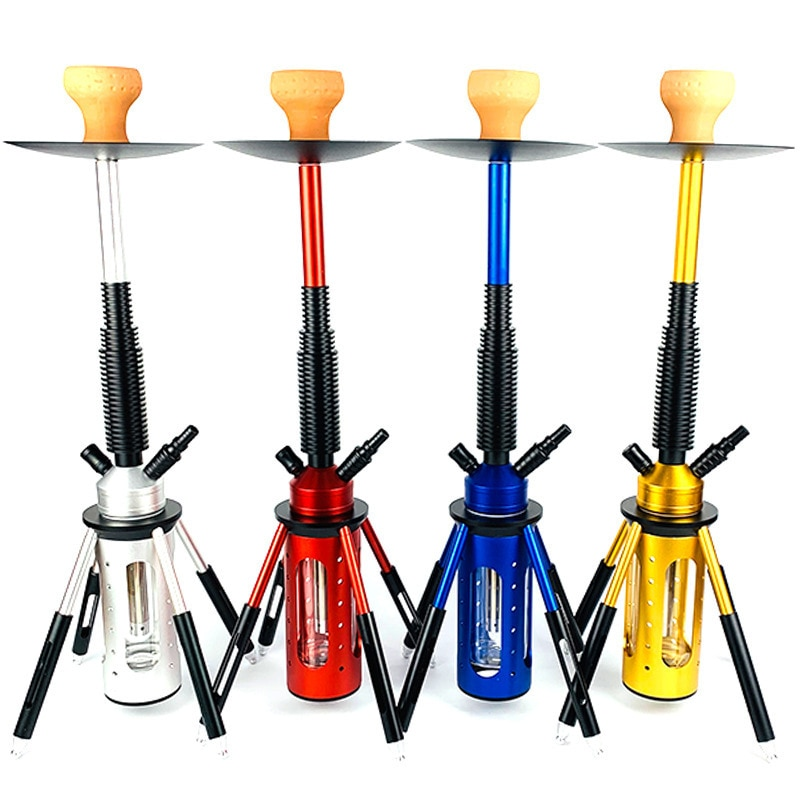 Metal Hookah Shisha Set Hookah Narguile Complete Smoking Grass Hose Pipe Mouthpieces for Lighters Shisha Pipe Hookah Accessories