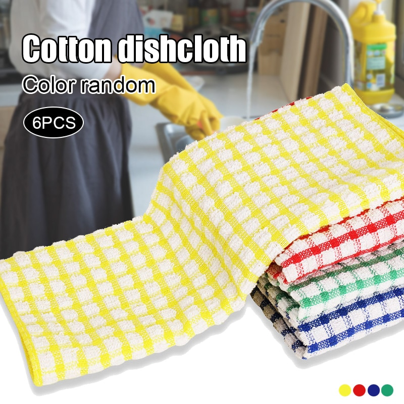 Cuisine bol serviettes en vrac coton cuisine serviettes ensemble bol chiffons pour laver la vaisselle bol chiffons pour sécher la vaisselle cuisine RT