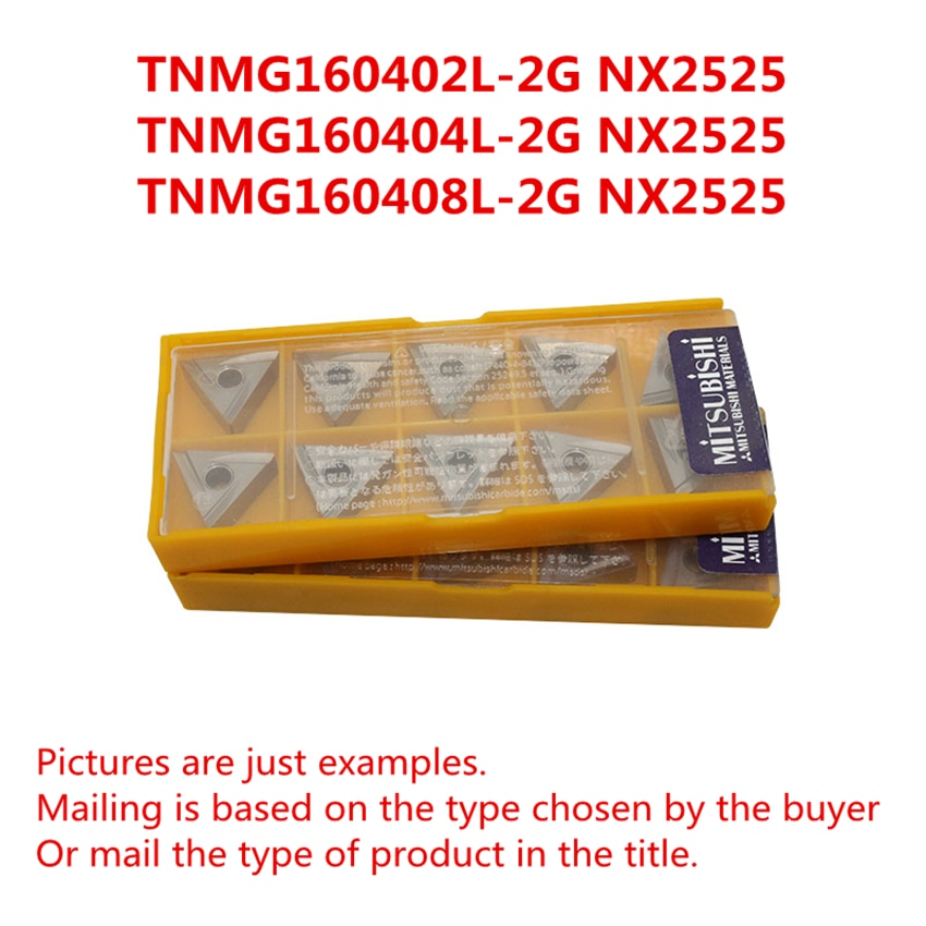 TNMG160402L-2G MITSUBISHI NX2525/TNMG160404L-2G NX2525/TNMG160408L-2G NX2525 CNC torneado Cermet insertos envío gratis