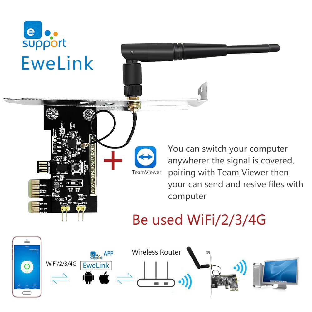EweLink Mini PC télécommande allumer/éteindre interrupteur carte de démarrage relais Module redémarrer commutateur pour bureau PCI-e