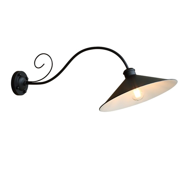 BRIGHT Wall Lamp Outdoor Classical Sconces Light Waterproof Horn Shape Home LED For Porch Villa enlarge