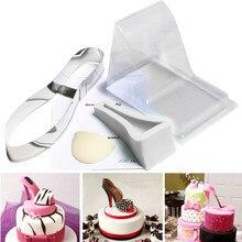 Moule de grande taille gâteau Fondant 3D Silicone   Moule à talons hauts, moule de chaussure pour dame pour décoration de gâteau de mariage, outils de cuisson bricolage