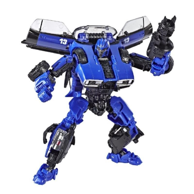 Serie de estudio Dropkick coche azul Robot acción figura juguetes clásicos para niños SS46