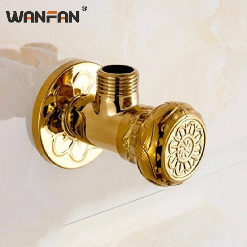 """Válvulas de llenado de latón antiguo de alta calidad y oro 1/2 """"Malex válvula de parada de ángulo de baño grifo de pared 4118K"""