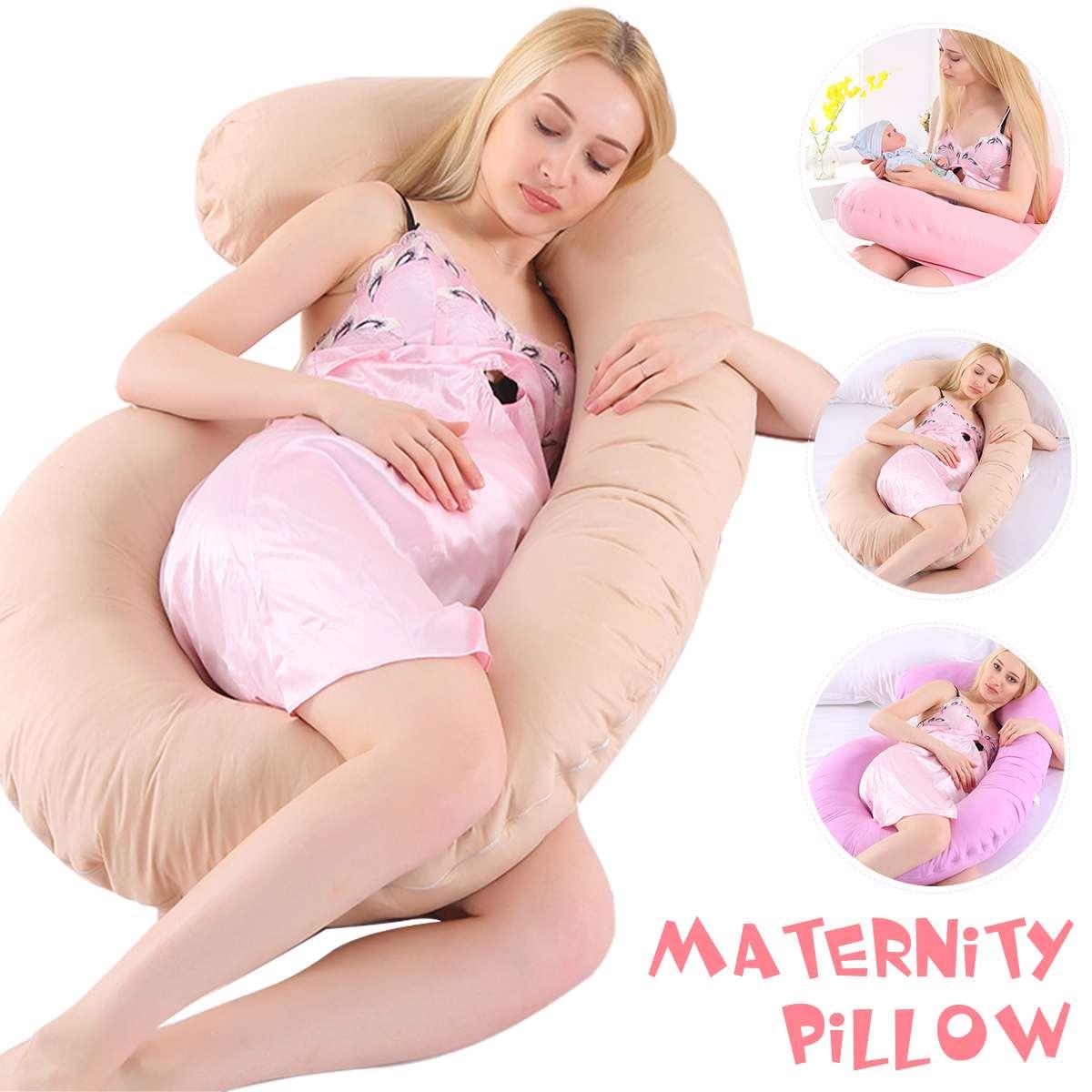 وسادة دعم للنوم على شكل حرف C للنساء الحوامل ، وسادة الأمومة ، للنوم على الجانب