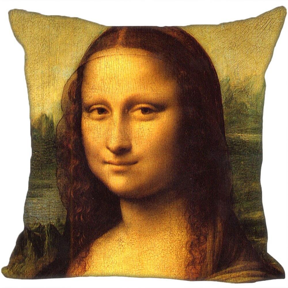 Custom Mona Lisa Pillowcase Cushion Cover Home Decor Hotel Car Seat Backrest  Sofa Pillow Case 21104-04