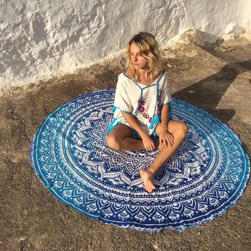 New Retro Floral Hippie Boho Summer Beach Throw Towel Yoga Mat Decorative Wall Hanging Beach Blanket  Picnic Blanket