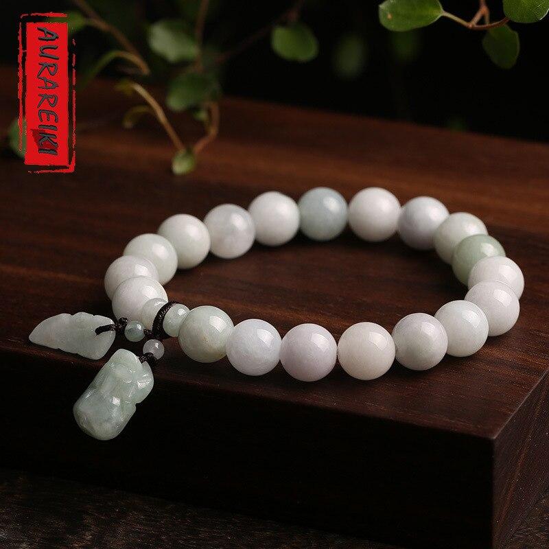 Nova natural jade jade pulseira popular feminino jóias pulseira par estilos pixiu buda estátua escultura jóias para o presente