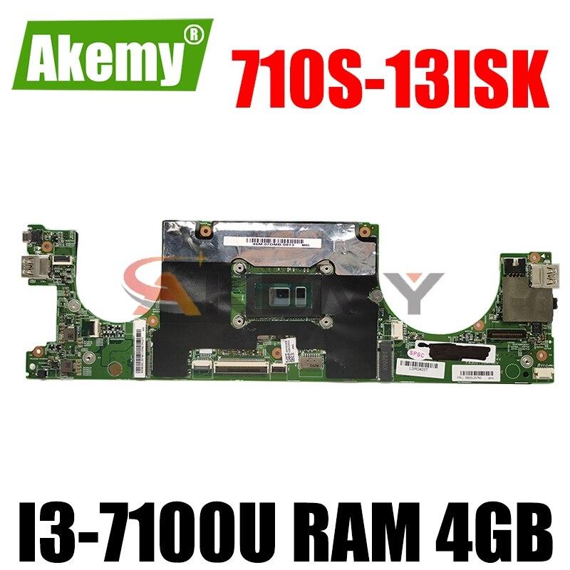LS710 15238-1 اللوحة الأم الأصلية لينوفو Ideapad 710S-13ISK Xiaoxin Air 13 مع I3-7100U رام 4 جيجابايت اللوحة الأم للكمبيوتر المحمول