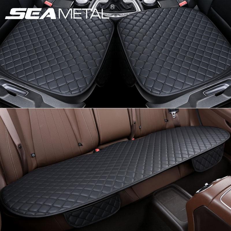 Чехлы для сидений, автомобильный набор, кожаный универсальный чехол для автомобильных сидений, защита для автомобильных сидений, подушки, к...