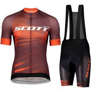 2021 Scott Racing Men's Clothes pro team Cycling Jersey Short Sleeve Cycling Clothing Summer MTB Road Bike Sets