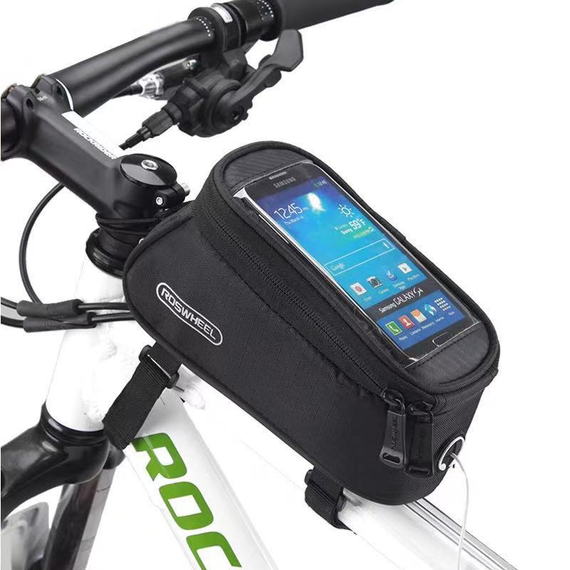 Phone Case Bike Bag Frame Front Top Tube Cycling Bag Waterproof Phone Case Touchscreen Bag MTB Pack Bicycle Accessories front touch screen bike phone rainproof bag for bicycle handlebar cycling bag phone case bicycle bag mtb pannier bicycle