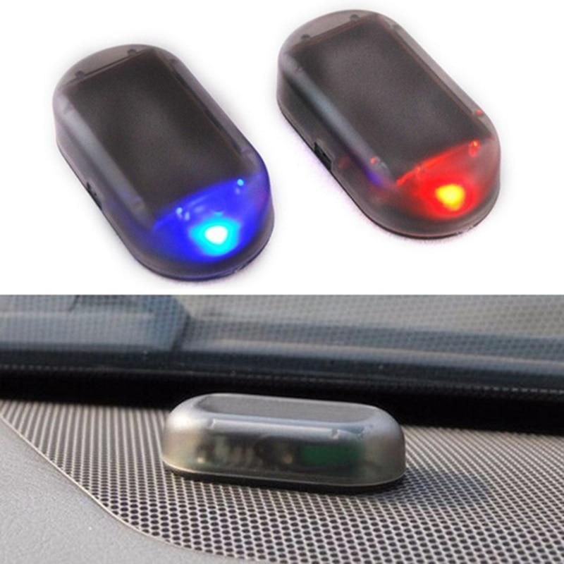 Car Fake Security Light Solar Powered Simulated Dummy Alarm Wireless Warning Anti-Theft Caution Lamp