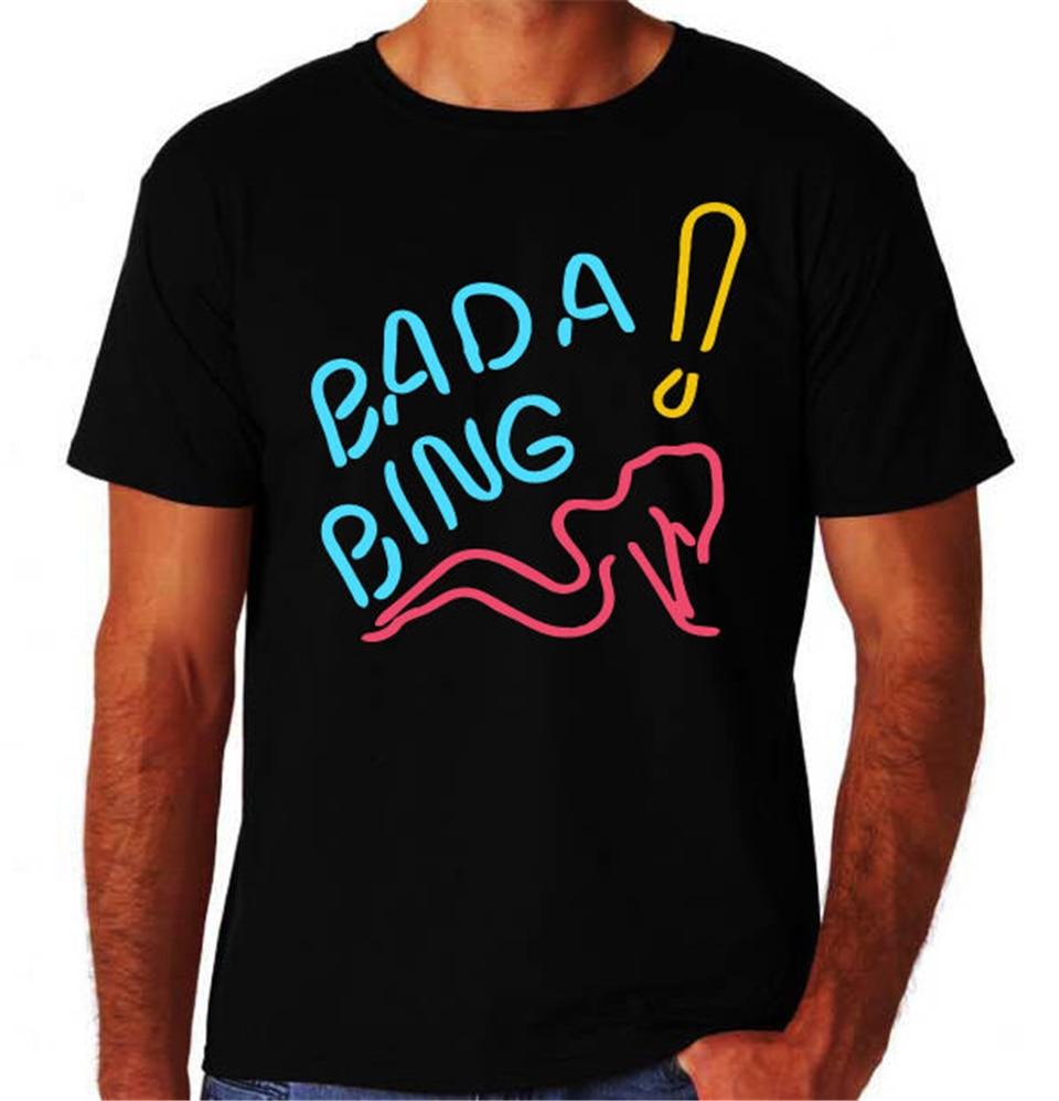 Bada Bing Strip Club Pole Dancer Stripper de la Mafia italiana nueva camiseta negra Tops de hip-hop camiseta