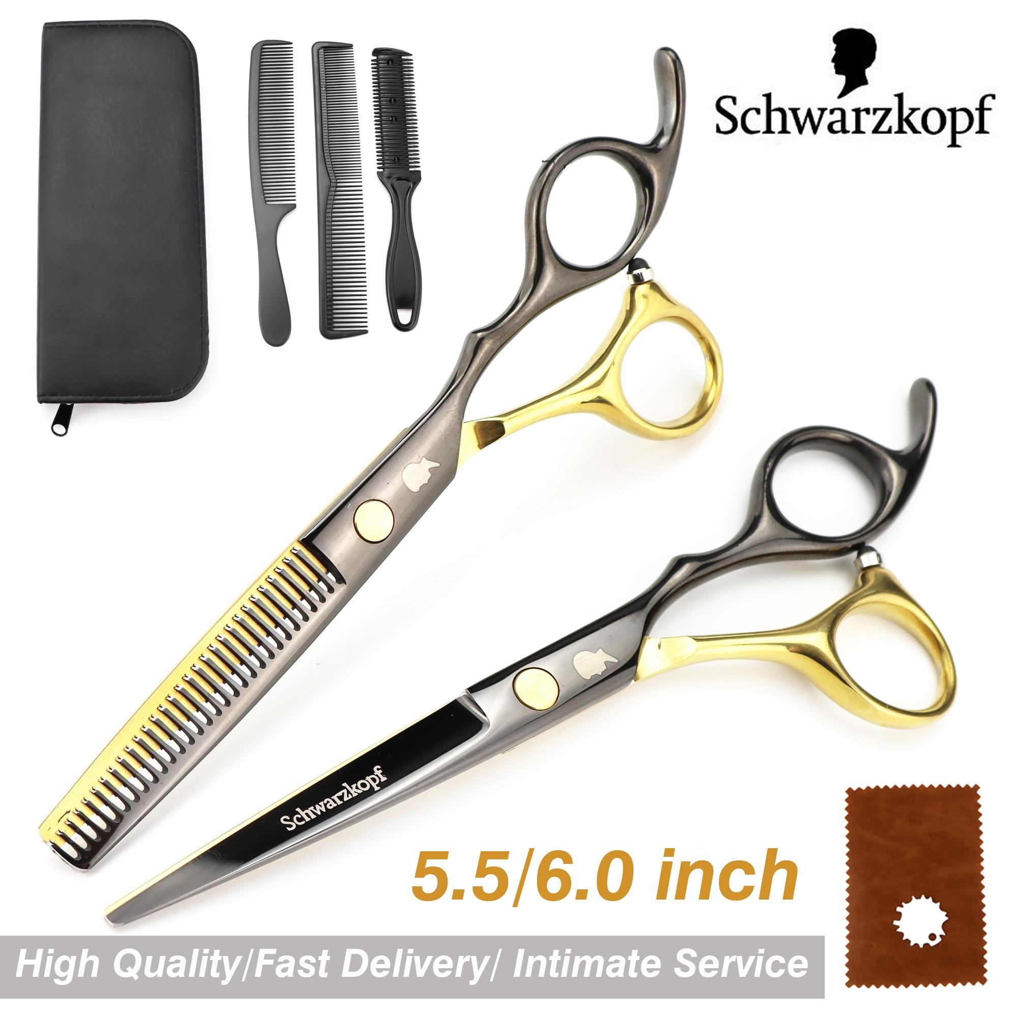 New  Profissional Hairdressing Scissors Hair Cutting Scissors Set Barber Shears  High Quality Salon 6.0inch Multi-color optiona