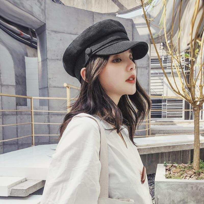 Vintage winter berets caps for women flat cap keeps you warm outdoors girlls beret femme cotton B06
