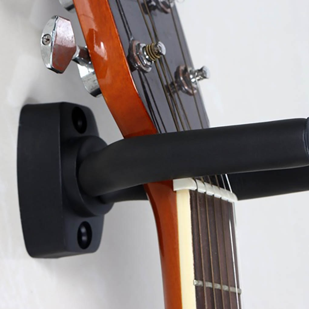 1 Pcs Wall Mount Guitar Hanger Hook Non-slip Holder Stand for Acoustic Guitar Ukulele Violin Bass Gu
