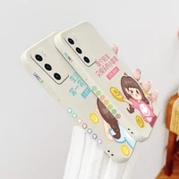 happy girl phone case for huawei p40 p40lite p30 p20 mate 40 40pro 30 20 pro lite p smart 2021 y7a liquid silicone cover