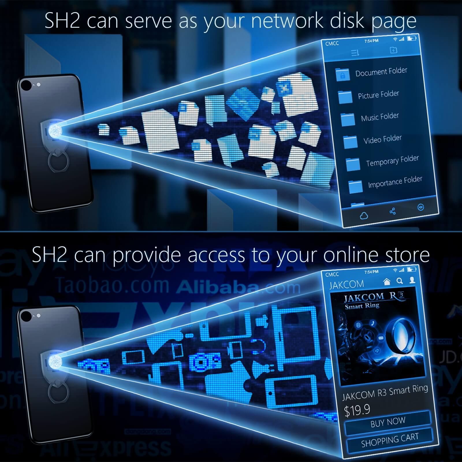 JAKCOM SH2 Smart Holder Set Match to ring holder box arm pouch phone accessory bundles support telephone portable