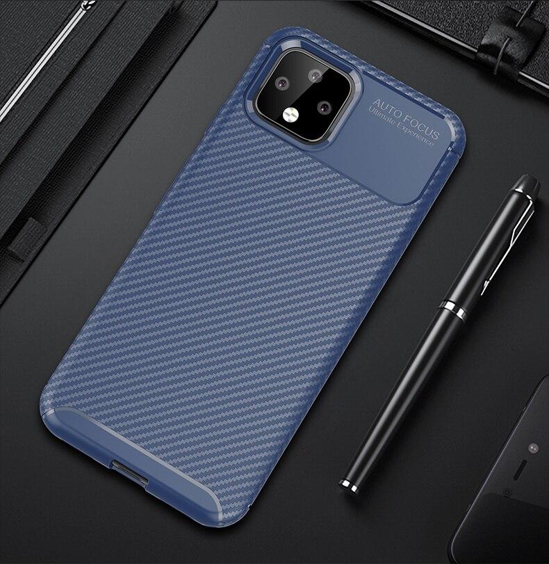 Caso do telefone de fibra de carbono para htc pixel 4 xl caso capa de silicone para htc google pixel 3 4 xl lite 3a 4a xl4 casos pára-choques escudo