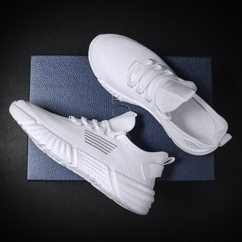 رجل أبيض المدربين الرجال أحذية رياضية كاجوال أحذية رياضية تنفس منخفضة كبار الإنسان سباق رجالي الكلاسيكية قماشية