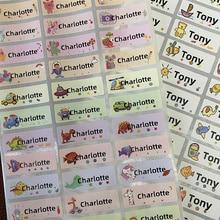 120Pcs Name Tag Aufkleber Anpassen Aufkleber Wasserdicht Personalisierte Etiketten Kinder Schule Schreibwaren Wasser Flasche Bleistift dinosau