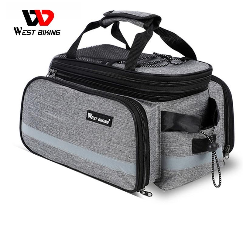 WEST BIKING Waterproof Bike Seat Pannier Pack Luggage Cycling Bag 10-25L Bicycle Pannier Bag Rear Rack Trunk Bag With Rain Cover