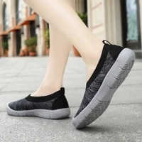 fashion sneakers womens shoes casual loafers woman slip on plus size flats ladies breathable summer mom middle aged and elderly