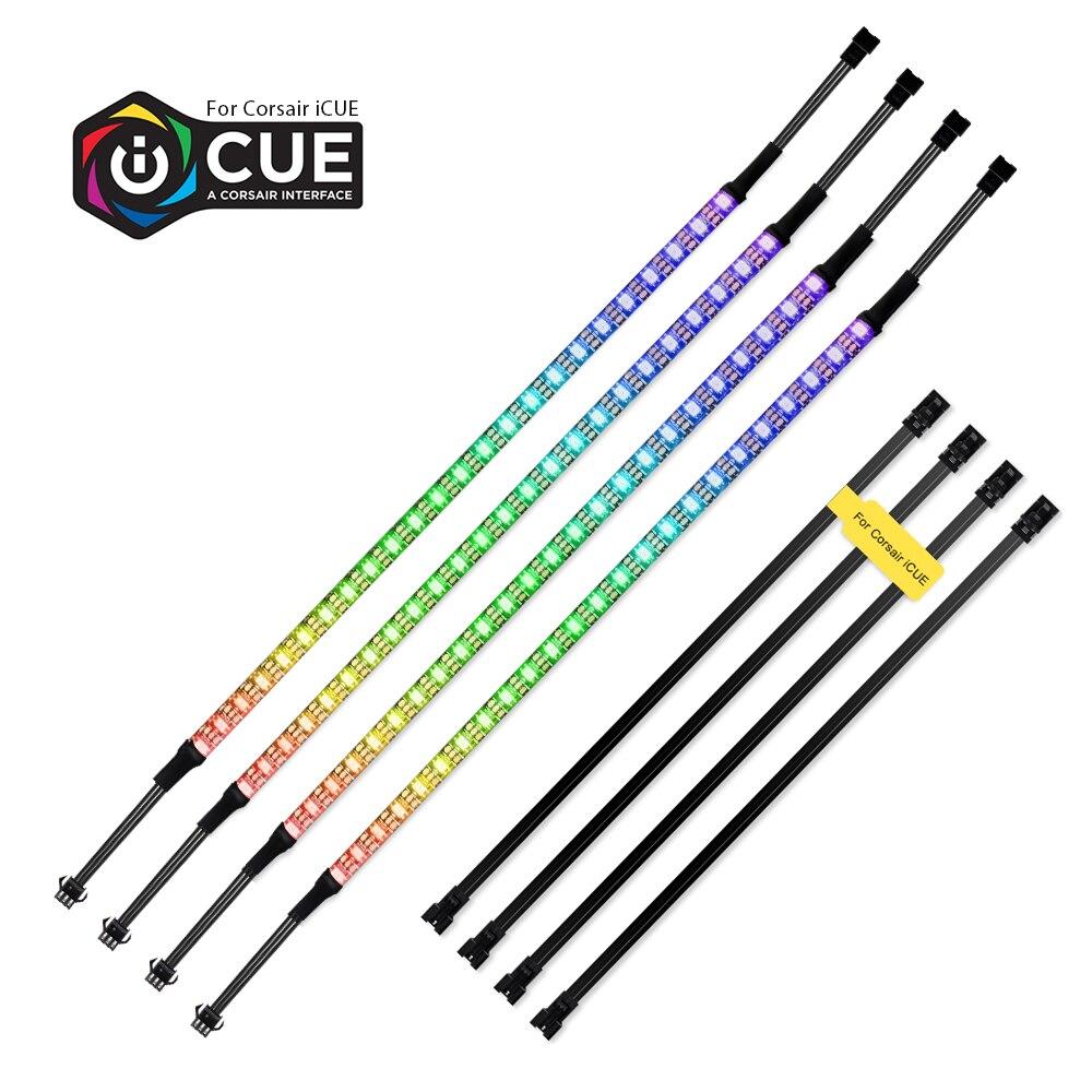 40cm Address WS2812b Digital LED Streifen Regenbogen RGB LED Beleuchtung Kit für PC Computer Fall Decor, für iCUE eine CORSAIR Interface
