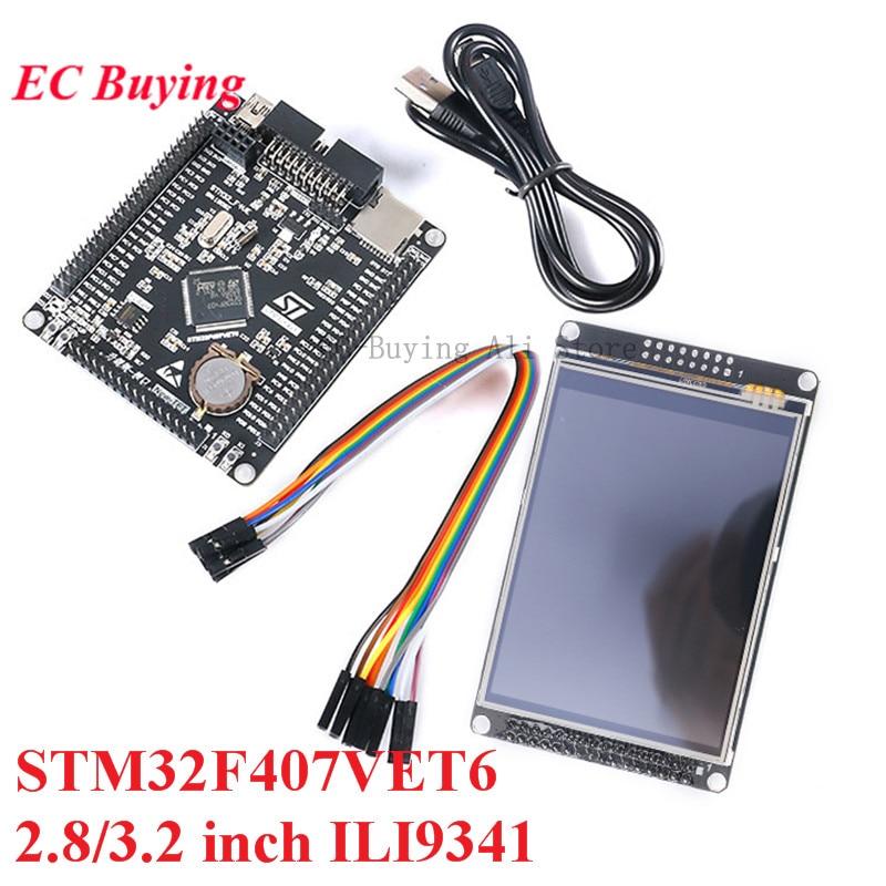 STM32F407VET6 carte de développement Cortex-M4 STM32 carte dapprentissage bras noyau 2.8/3.2 pouces LCD Module daffichage lecteur ILI9341 TFT écran