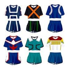Boku No Hero Academia Uniform Bakugou Katsuki/Iida Tenya/Todoroki Shouto Cosplay Costume My Hero Academia Sportswear Tops+shots