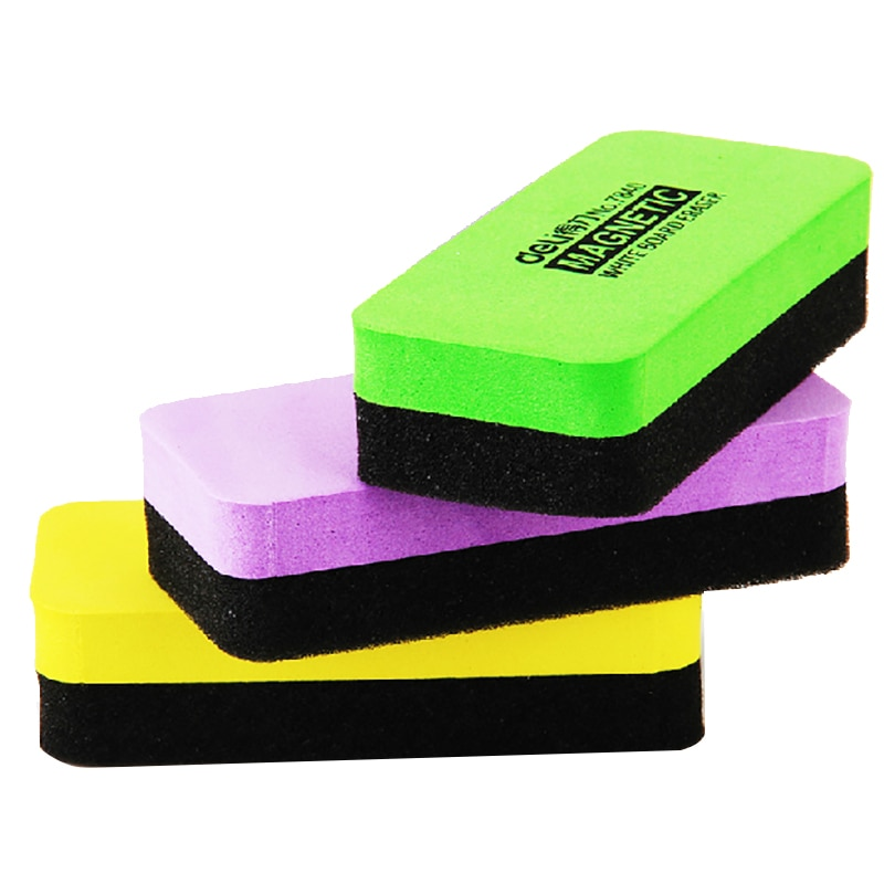 1 Pcs Deli 110mm X 50mm X 30mm High Quality Magnetic White Board Erasers Drywipe Marker Cleaner School Office Whiteboard