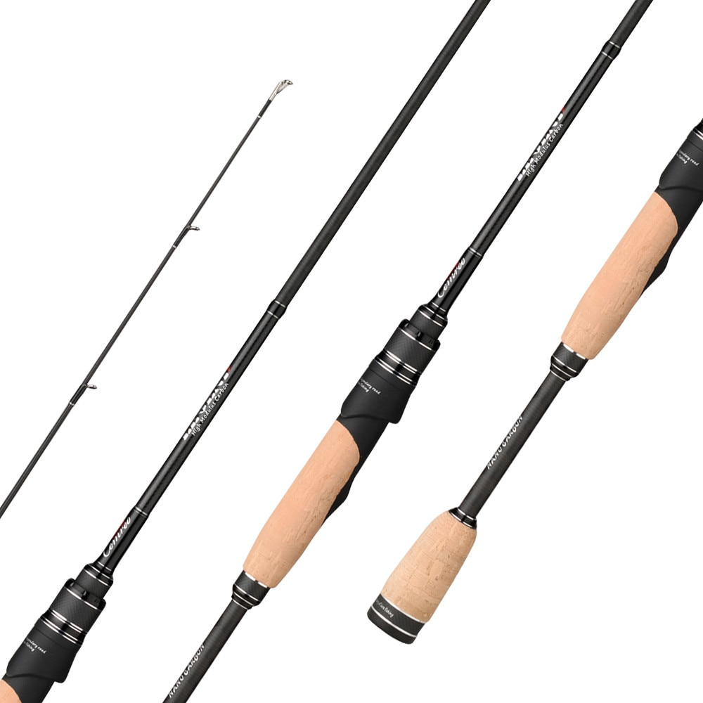 CEMREO Outstanding Spinning Fishing Rod Fuji Guide MH 183cm Fast Lure Rod Carbon Fiber 2 Sections Cork Handle Fishing Tackle enlarge
