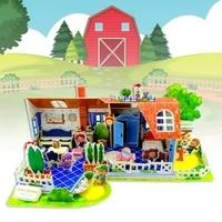 interesting kids puzzle jigsaw toy castle jigsaw creative 3d paper educational building blocks jigsaw for children 2021