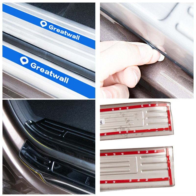 Stainless Steel Car Threshold Strip Welcome Pedal Door Sill Sticker Auto Accessories For GWM POER Great Wall Power/Pao 2019-2021 enlarge