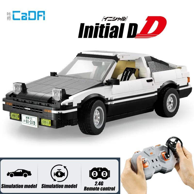 MOC الأولي D تويوتا K81 AE86 سوبر RC سيارة 2 الإصدارات محرك اللبنات مجموعة صالح الخالق لتقوم بها بنفسك ألعاب مكعبات للأطفال صبي هدية