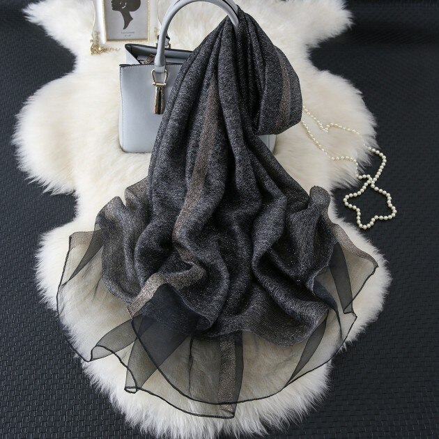 winter solid scarf silk women fashion shawl and wraps hijab scarf wool pashmina for ladies pure long