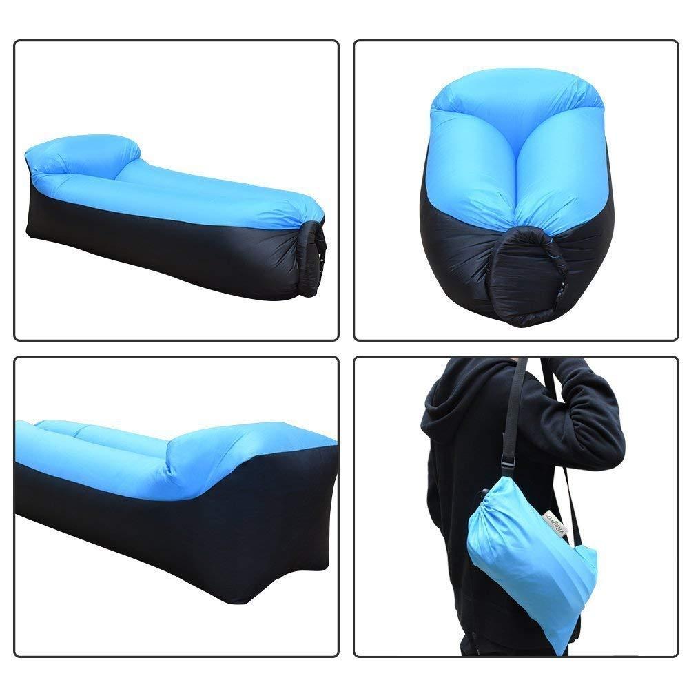 lazy sofa sleeping bags fast folding Inflatable air sofa lazy bag Beach laybag Air Bed inflatable lounger chair cushion