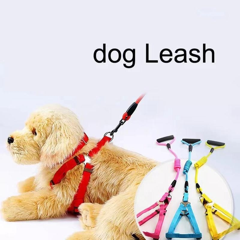 Pet Supplies Dog Leash Teddy Golden Retriever Leash Leash Collar Running Dog Leash 3 Piece Set  Pet Products for Dog  Pet Collar