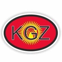 12.9CM*8.6CM Kyrgyzstan KGZ Country Code Windows Car Sticker Reflective Decal 6-0236