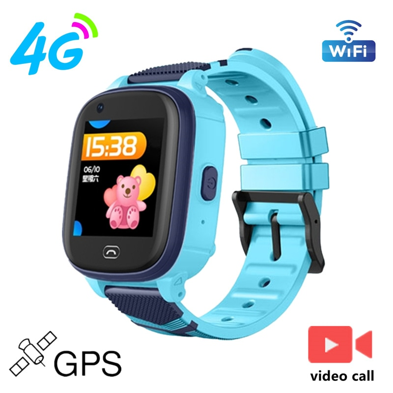 Get S60 4G GPS WIFI LBS Tracker Phonewatch Kid Smart Watch Waterproof SOS Video Call for Children Anti Lost Monitor Baby Watch