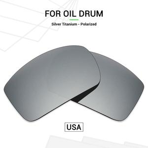 Mryok POLARIZED Replacement Lenses (from USA) for Oakley Oil Drum Sunglasses Silver Titanium