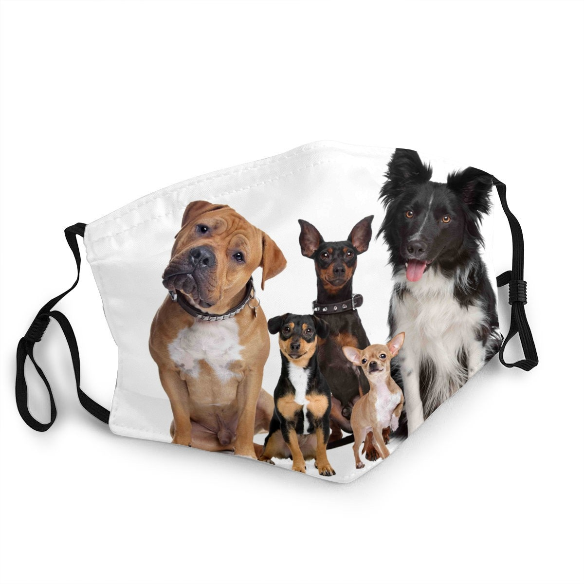 Máscara animal respirável da tela do cão máscaras lavável reusável filtro máscara de poeira husky pastor alemão para crianças/adultos