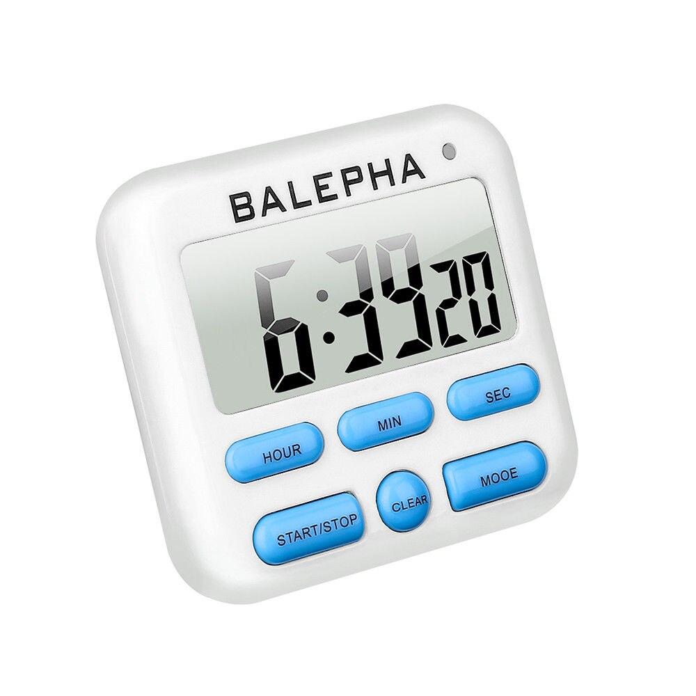 Magnético cocina reloj Conde arriba abajo cocina temporizador de alarma LCD grande de Cocina Digital temporizador de reloj de cocina de alarma y temporizador de cocina